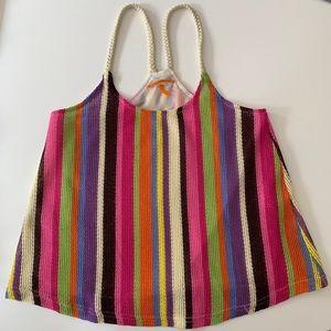 Anama Colorful woven tank top. Size medium.